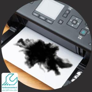 پرینتر کاغذ را سیاه می کند