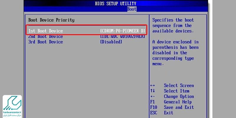 نصب ویندوز 10 در لپ تاپ hp