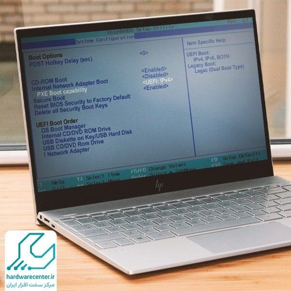 تنظیمات بایوس لپ تاپ اچ پی